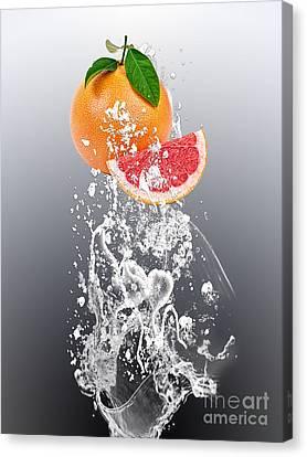 Grapefruit Splash Canvas Print by Marvin Blaine
