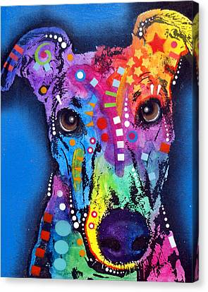 Greyhound Canvas Print by Dean Russo