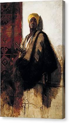 Guard Of The Harem Canvas Print by Frank Duveneck