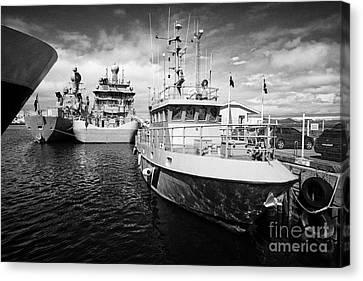 icelandic coast guard vessels thor and tyr docked in Reykjavik iceland Canvas Print by Joe Fox