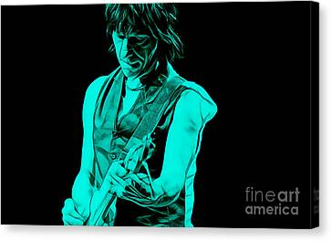 Jeff Beck Collection Canvas Print by Marvin Blaine