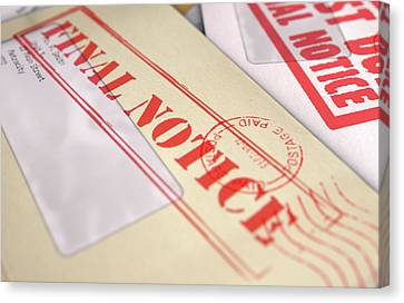 Mail Stack Canvas Print by Allan Swart