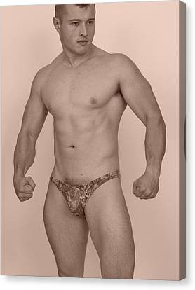 Male Muscle Canvas Print by Jake Hartz