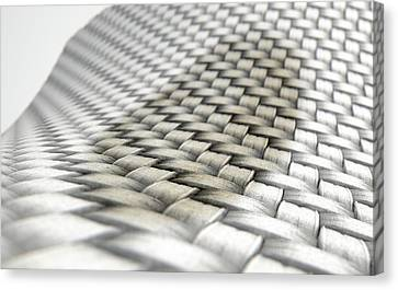 Micro Fabric Weave Stain Canvas Print by Allan Swart