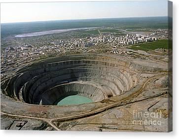 Mir Mine, Siberia, Russia Canvas Print by RIA Novosti