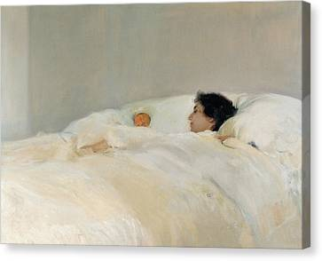 Mother Canvas Print by Joaquin Sorolla y Bastida