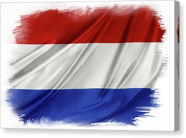 Netherlands Flag Canvas Print by Les Cunliffe