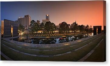 Oklahoma City National Memorial Canvas Print by Ricky Barnard