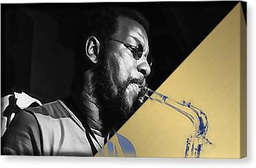 Ornette Coleman Collection Canvas Print by Marvin Blaine
