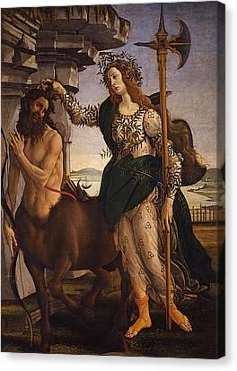 Pallas And The Centaur Canvas Print by Sandro Botticelli