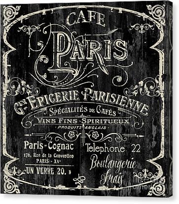 Paris Bistro Canvas Print by Mindy Sommers