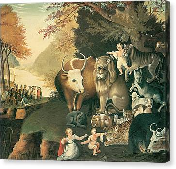 Peaceable Kingdom Canvas Print by Edward Hicks