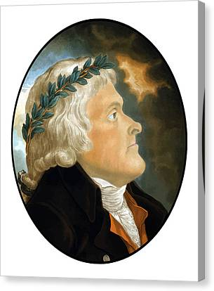 President Thomas Jefferson Canvas Print by War Is Hell Store