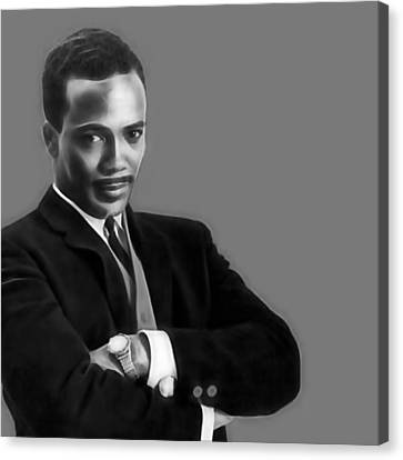 Quincy Jones Collection Canvas Print by Marvin Blaine