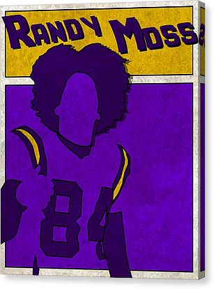 Randy Moss Canvas Print by Kyle West