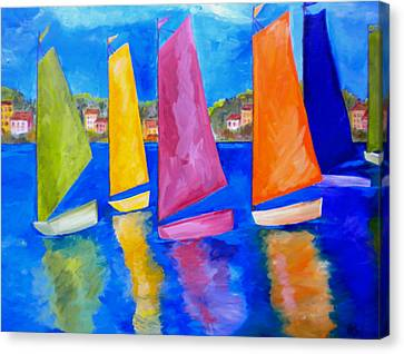 Reflections Of Tortola Canvas Print by Patti Schermerhorn