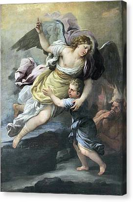 Rendition Of A Guardian Angel Canvas Print by MotionAge Designs