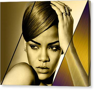 Rhianna Collection Canvas Print by Marvin Blaine