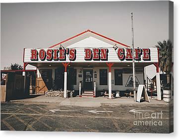 Rosies Den Cafe   Canvas Print by Iryna Liveoak