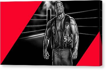Stone Cold Steve Austin Wrestling Collection Canvas Print by Marvin Blaine