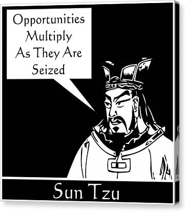 Sun Tzu Canvas Print by War Is Hell Store