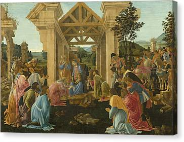 The Adoration Of The Magi Canvas Print by Mountain Dreams