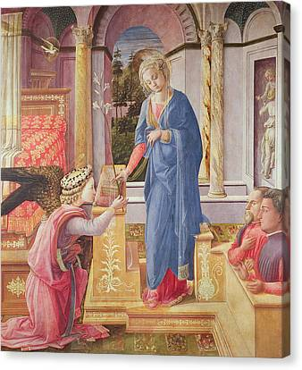 The Annunciation Canvas Print by Fra Filippo Lippi