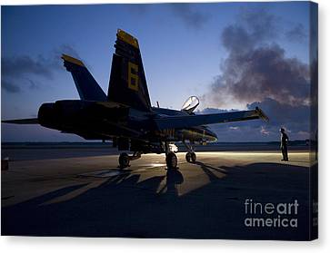 the Blue Angels Canvas Print by Celestial Images