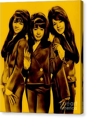 The Ronettes Collection Canvas Print by Marvin Blaine