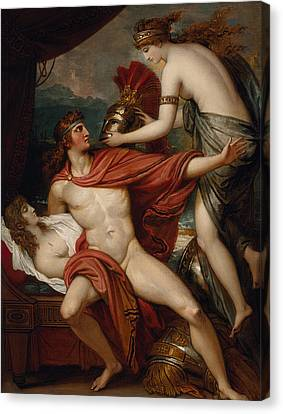 Thetis Bringing The Armor To Achilles Canvas Print by Benjamin West