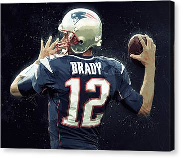 Tom Brady Canvas Print by Semih Yurdabak