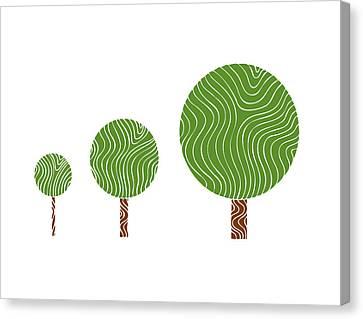 3 Trees Canvas Print by Frank Tschakert