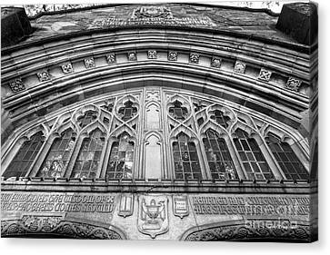 University Of Michigan Law Library Canvas Print by University Icons