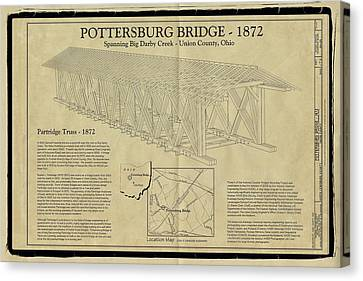 Upper Darby/pottersburg  Covered Bridge Canvas Print by Jack R Perry
