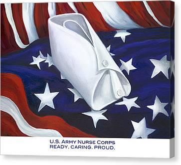 U.s. Army Nurse Corps Canvas Print by Marlyn Boyd