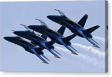 Us Navy Blue Angels Poster Canvas Print by Dustin K Ryan