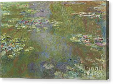 Water Lily Pond Canvas Print by Claude Monet