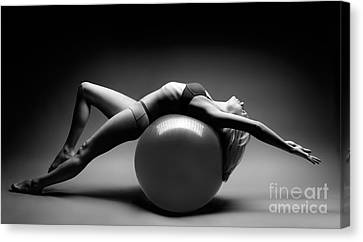 Woman On A Ball Canvas Print by Oleksiy Maksymenko
