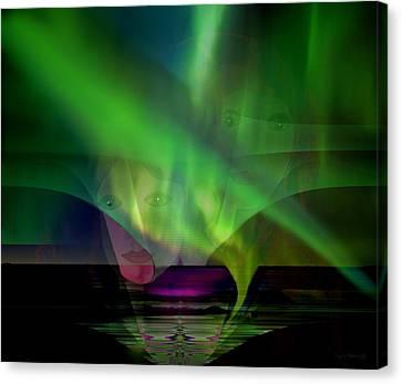 308 - Aurora Australis   Canvas Print by Irmgard Schoendorf Welch