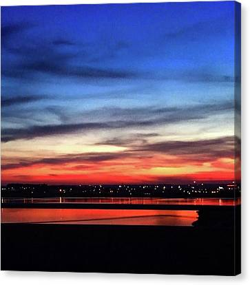 31 May 16 Colourful Sunset Canvas Print by Toni Martsoukos