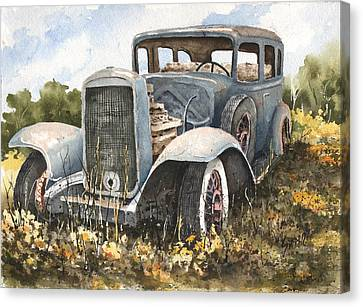 32 Buick Canvas Print by Sam Sidders