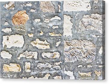 Stone Wall Canvas Print by Tom Gowanlock
