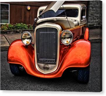34 Chevy On The Prowl Canvas Print by Thom Zehrfeld