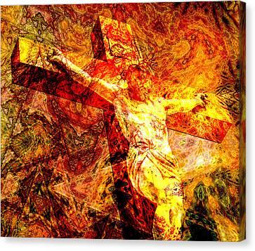 Jesus Christ - Religious Art Canvas Print by Elena Kosvincheva