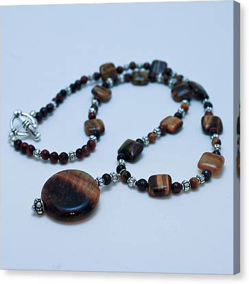 3516 Tiger Eye Necklace  Canvas Print by Teresa Mucha