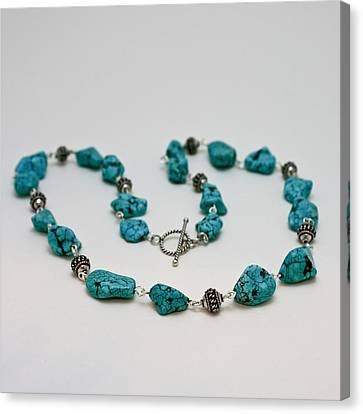 3599 Turquoise Necklace Canvas Print by Teresa Mucha