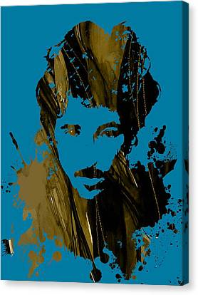 Bruce Springsteen Collection Canvas Print by Marvin Blaine