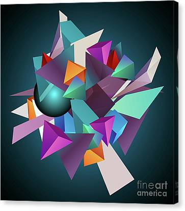 3d Geometric  Canvas Print by Amir Faysal