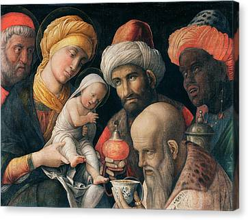 Adoration Of The Magi Canvas Print by Andrea Mantegna