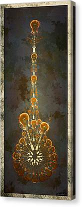 Electric Time Light Canvas Print by Michael Spatola